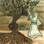 The Crazy Dervish and the Pomegranate Tree by Farnoosh Moshiri